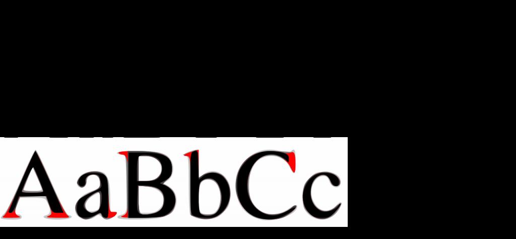 tipografía serif