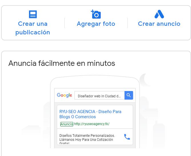 crear un anuncio de mi negocio en google maps