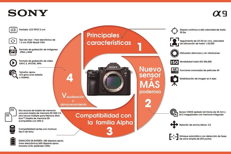 Infografía de un producto ejemplo