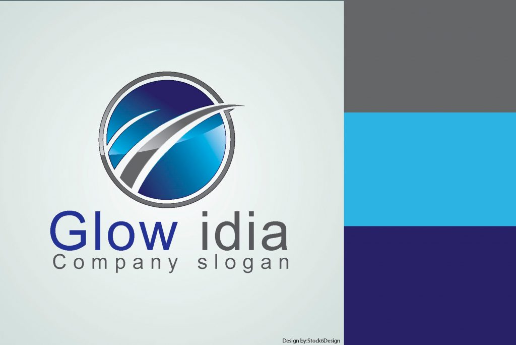 logos de color azul